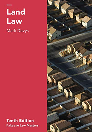 Land Law (Palgrave Law Masters) By Mark Davys