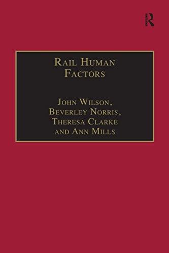 Rail Human Factors By John Wilson