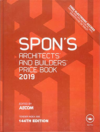 Spon's Architects' and Builders' Price Book 2019 By Edited by AECOM (AECOM, London, UK)