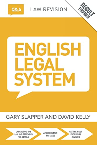 Q&A English Legal System (Questions and Answers) By Gary Slapper