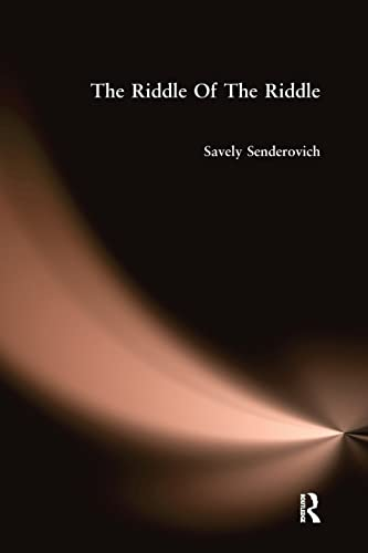 Riddle Of The Riddle By Senderovich