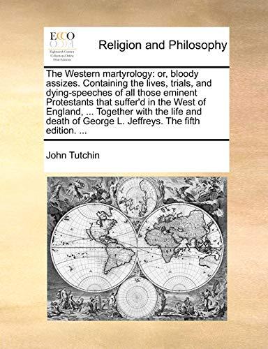 The Western Martyrology By John Tutchin