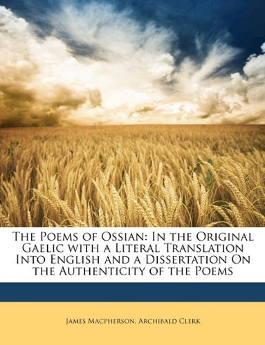 The Poems of Ossian By James MacPherson