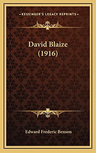 David Blaize (1916) By E F Benson