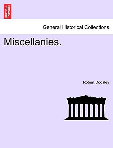 Miscellanies. By Robert Dodsley