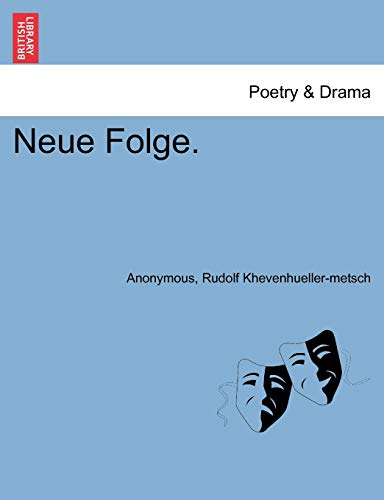 Neue Folge. V. Band. By Anonymous