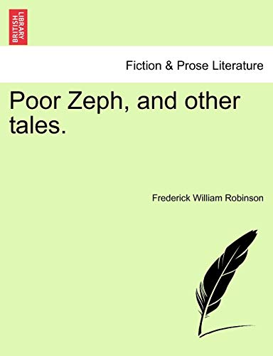 Poor Zeph, and Other Tales. By Frederick William Robinson