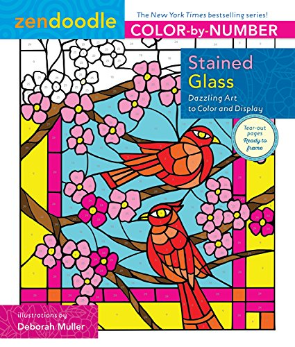 Zendoodle Color-by-Number: Stained Glass By Deborah Muller