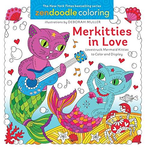 Zendoodle Coloring: Merkitties in Love By Deborah Muller