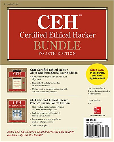 CEH Certified Ethical Hacker Bundle, Fourth Edition By Matt Walker