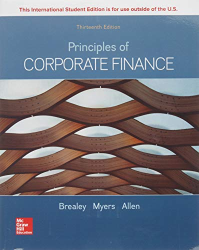 Principles of Corporate Finance By Richard Brealey