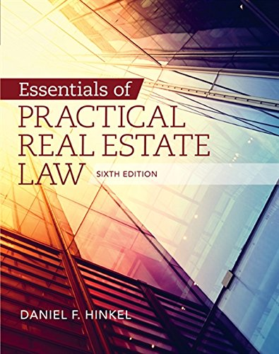 Essentials of Practical Real Estate Law By Daniel F. Hinkel (The National Center for Paralegal Training)