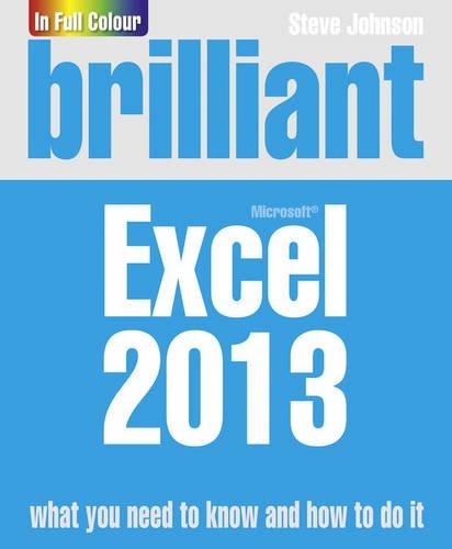 Brilliant Excel 2013 By Steve Johnson