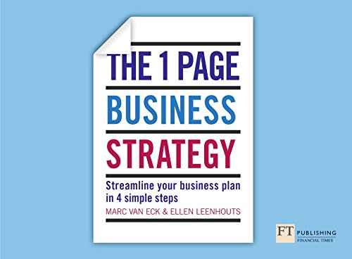 The One Page Business Strategy By Marc van Eck