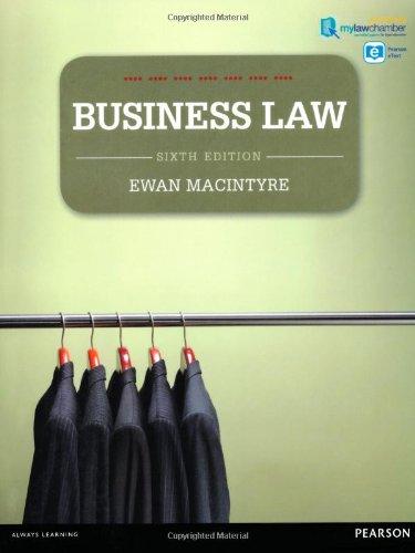 Business Law premium pack By Ewan MacIntyre