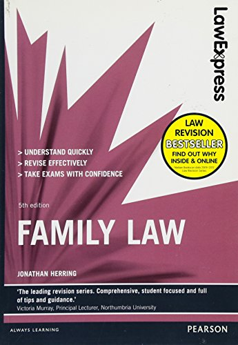 Law Express: Family Law (Revision Guide) By Jonathan Herring