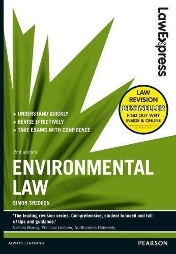 Law Express: Environmental Law By Simon Sneddon