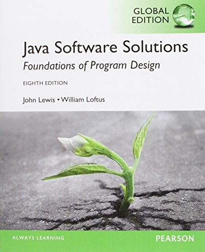 Java Software Solutions, Global Edition By John Lewis