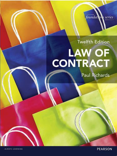 Law of Contract 12th edition MyLawChamber pack (Foundation Studies in Law Series) By Paul Richards