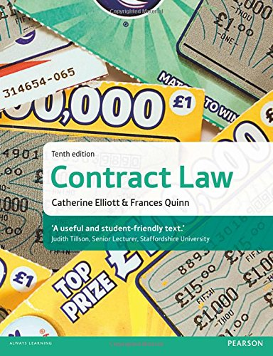 Contract Law By Catherine Elliott