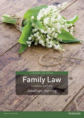 Family Law (Longman Law Series) By Jonathan Herring