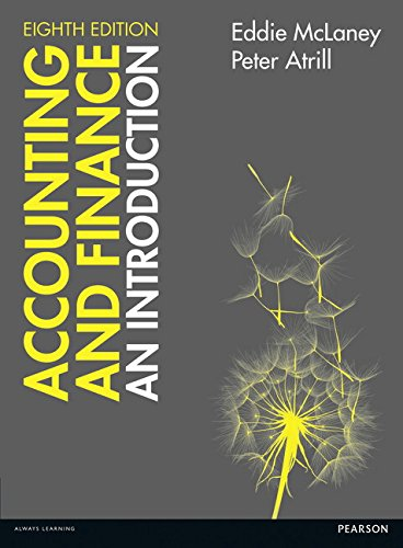 Accounting and Finance: An Introduction by Eddie McLaney