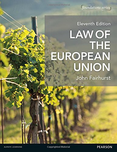 Law of the European Union By John Fairhurst