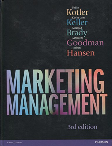 Marketing Management 3rd edn By Philip Kotler