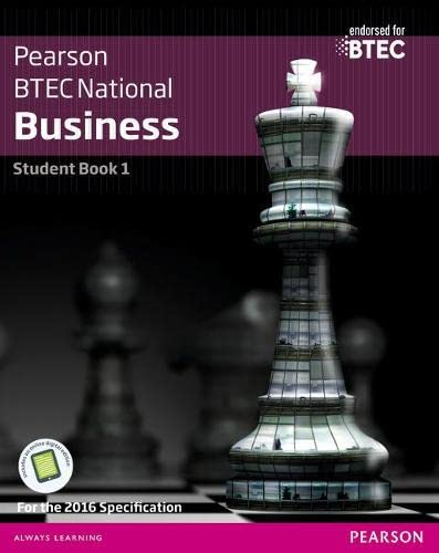 BTEC Nationals Business Student Book 1 + Activebook By Jenny Phillips