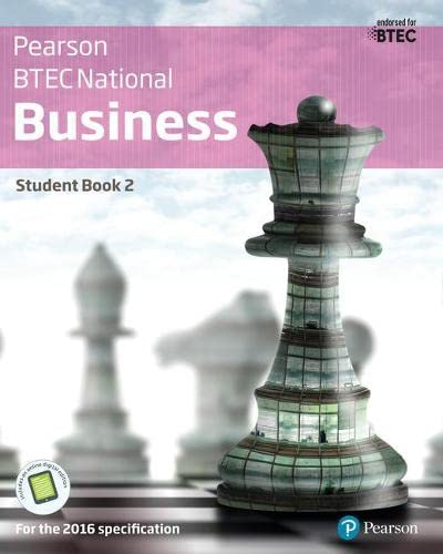 BTEC Nationals Business Student Book 2 + Activebook By Catherine Richards