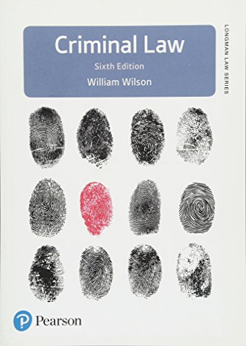 Criminal Law By William Wilson