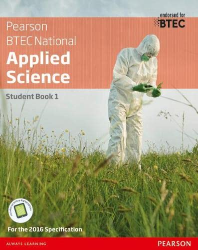 BTEC National Applied Science Student Book 1 By Joanne Hartley