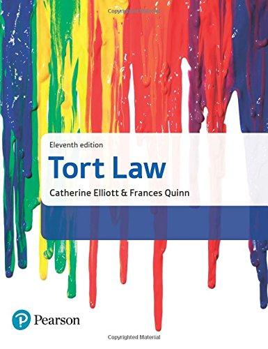 Tort Law by Catherine Elliott