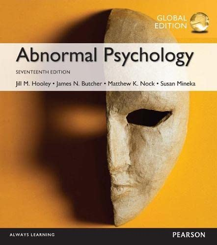 Abnormal Psychology, Global Edition By James N. Butcher