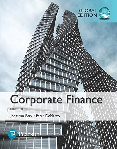 Corporate Finance, Global Edition By Jonathan Berk