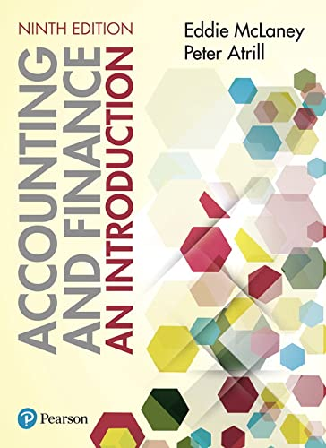 Accounting and Finance: An Introduction 9th edition By Eddie McLaney