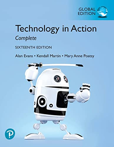 Technology In Action Complete, Global Edition By Alan Evans