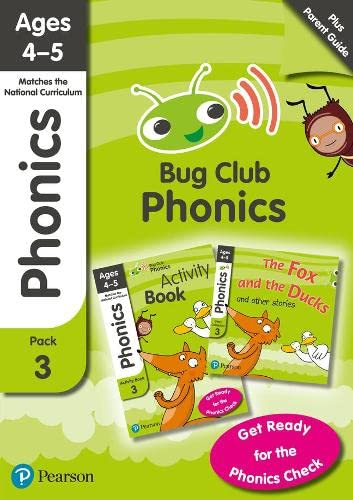 Phonics - Learn at Home Pack 3 (Bug Club), Phonics Sets 7-9 for ages 4-5 (Six stories + Parent Guide + Activity Book) By Rhona Johnston