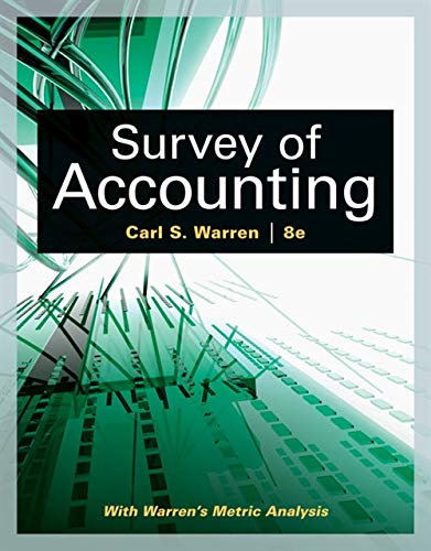 Survey of Accounting By Carl Warren (University of Georgia, Athens)