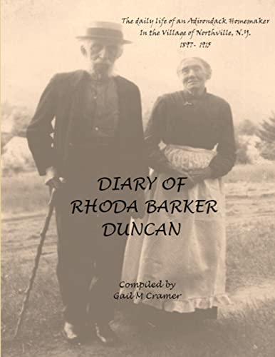 Diary of Rhoda Barker Duncan By Gail Cramer