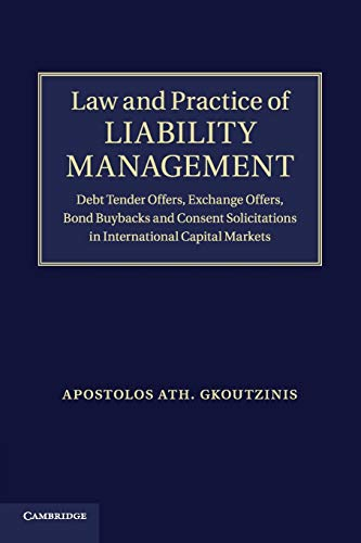 Law and Practice of Liability Management By Apostolos Ath. Gkoutzinis