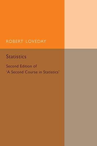 Statistics By Robert Loveday