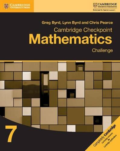 Cambridge Checkpoint Mathematics Challenge Workbook 7 von Greg Byrd
