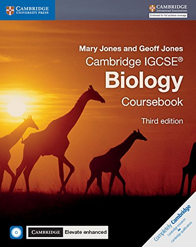 Cambridge IGCSE (R) Biology Coursebook with CD-ROM and Cambridge Elevate Enhanced Edition (2 Years) By Mary Jones