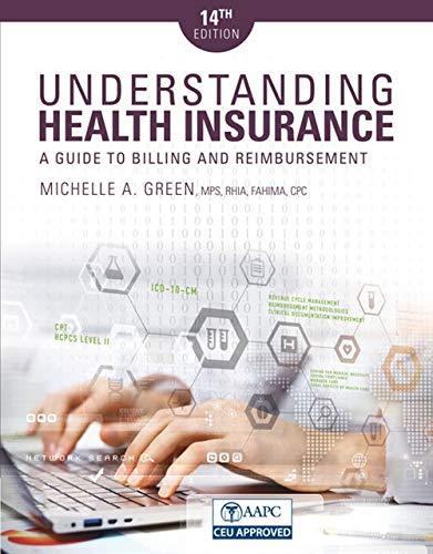 Understanding Health Insurance By Michelle Green (Mohawk Valley Community College, Utica, New York)