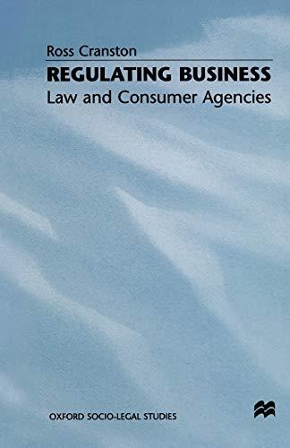 Regulating Business By Ross Cranston