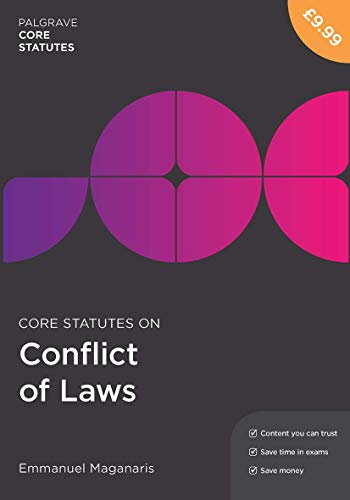 Core Statutes on Conflict of Laws By Emmanuel Maganaris