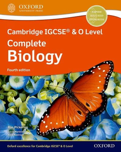 Cambridge IGCSE (R) & O Level Complete Biology: Student Book Fourth Edition By Ron Pickering