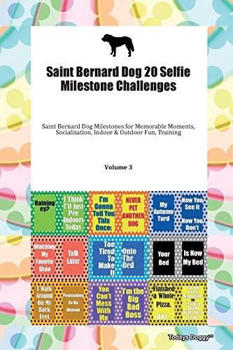 Saint Bernard Dog 20 Selfie Milestone Challenges Saint Bernard Dog Milestones for Memorable Moments, Socialization, Indoor & Outdoor Fun, Training Volume 3 By Todays Doggy