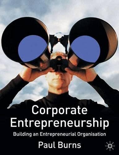 Corporate Entrepreneurship By Paul Burns